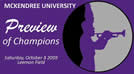 McKendree University Preview of Champions