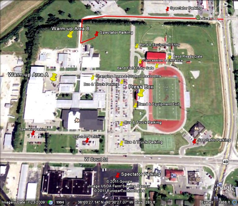 Asu Jonesboro Campus Map.Paragould Mcdonald S Marching Invitational